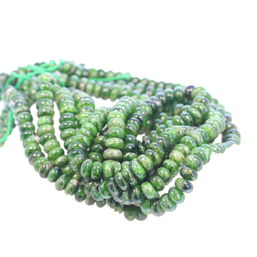 CHROME DIOPSIDE Beads Rondelles 7.5mm