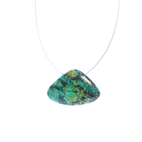 CHRYSOCOLLA FAN SHAPED PENDANT