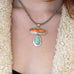 Dry Creek Turquoise and Spiny Oyster Pendant
