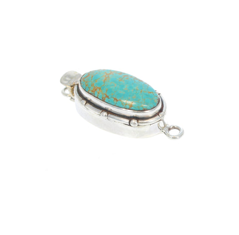 KINGS MANASSA TURQUOISE Clasp Large Oval Sterling