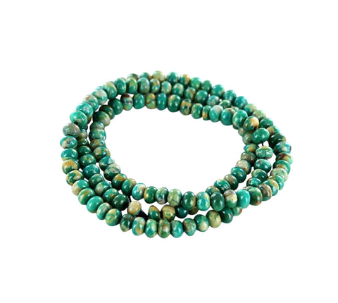FOX MINE TURQUOISE Beads 5.5mm Teal Green - New World Gems - 2