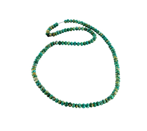 FOX MINE TURQUOISE Beads 5.5mm Teal Green - New World Gems - 1