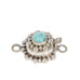 Carico Lake Turquoise Clasp Decorative Sterling 6mm Cushion