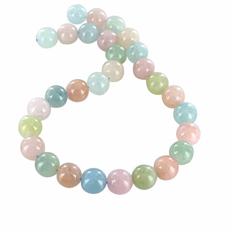 AQUAMARINE BEADS and MORGANITE Beads Round 14mm 16""