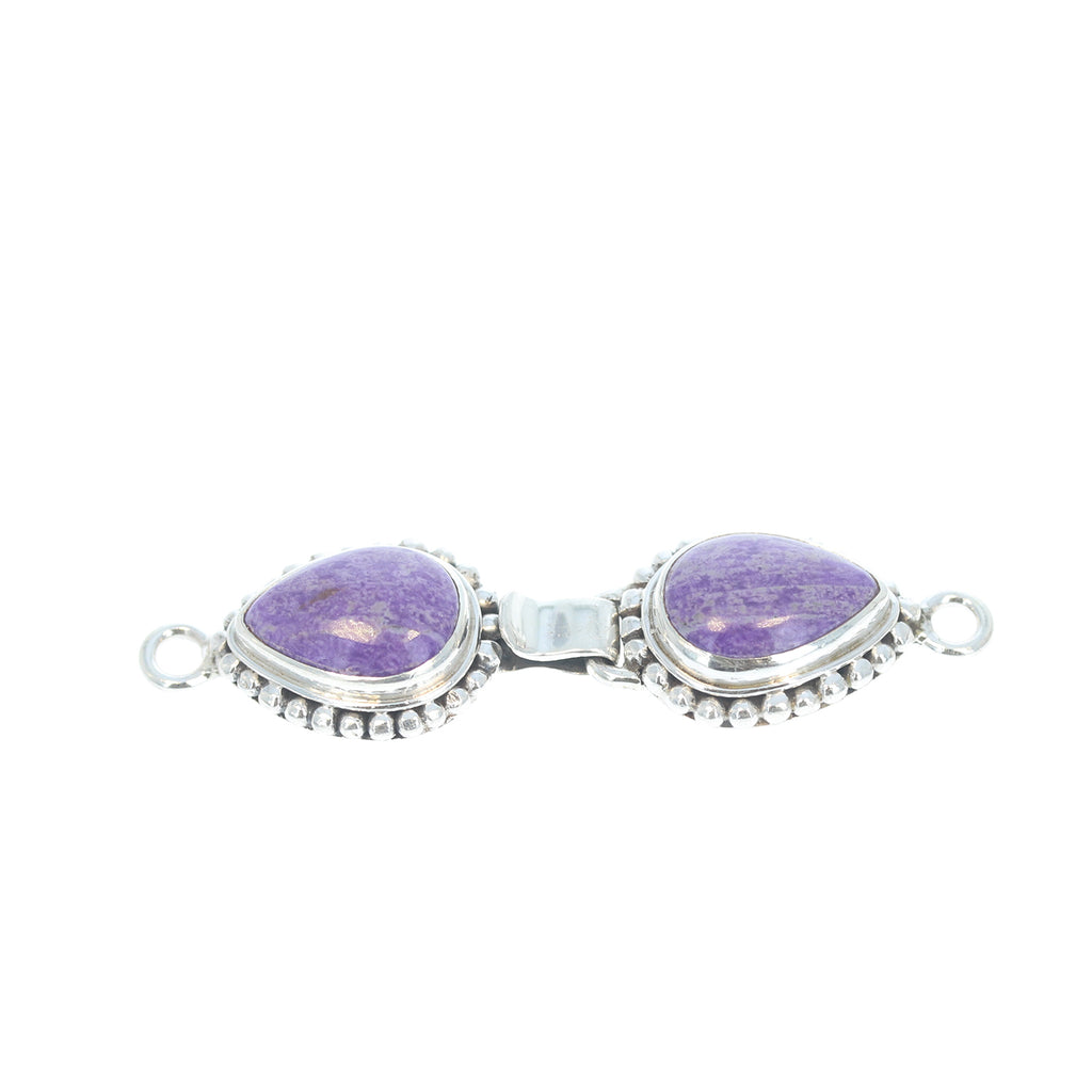 Sugilite Clasp Hook and Eye Design 2 Stone