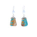 Fox Turquoise Earrings Sterling Silver Southwest Style #2