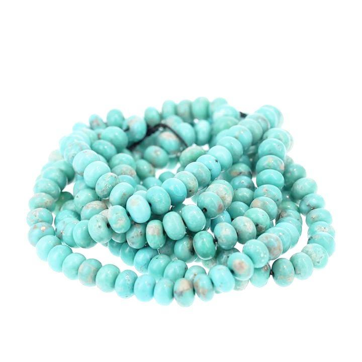 MEXICAN CAMPITOS TURQUOISE Beads Rondelles 6.3mm Aqua