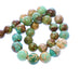 "UNIQUE MONGOLIAN TURQUOSE Round Beads Multi Colors 16"" 12 to 14mm"