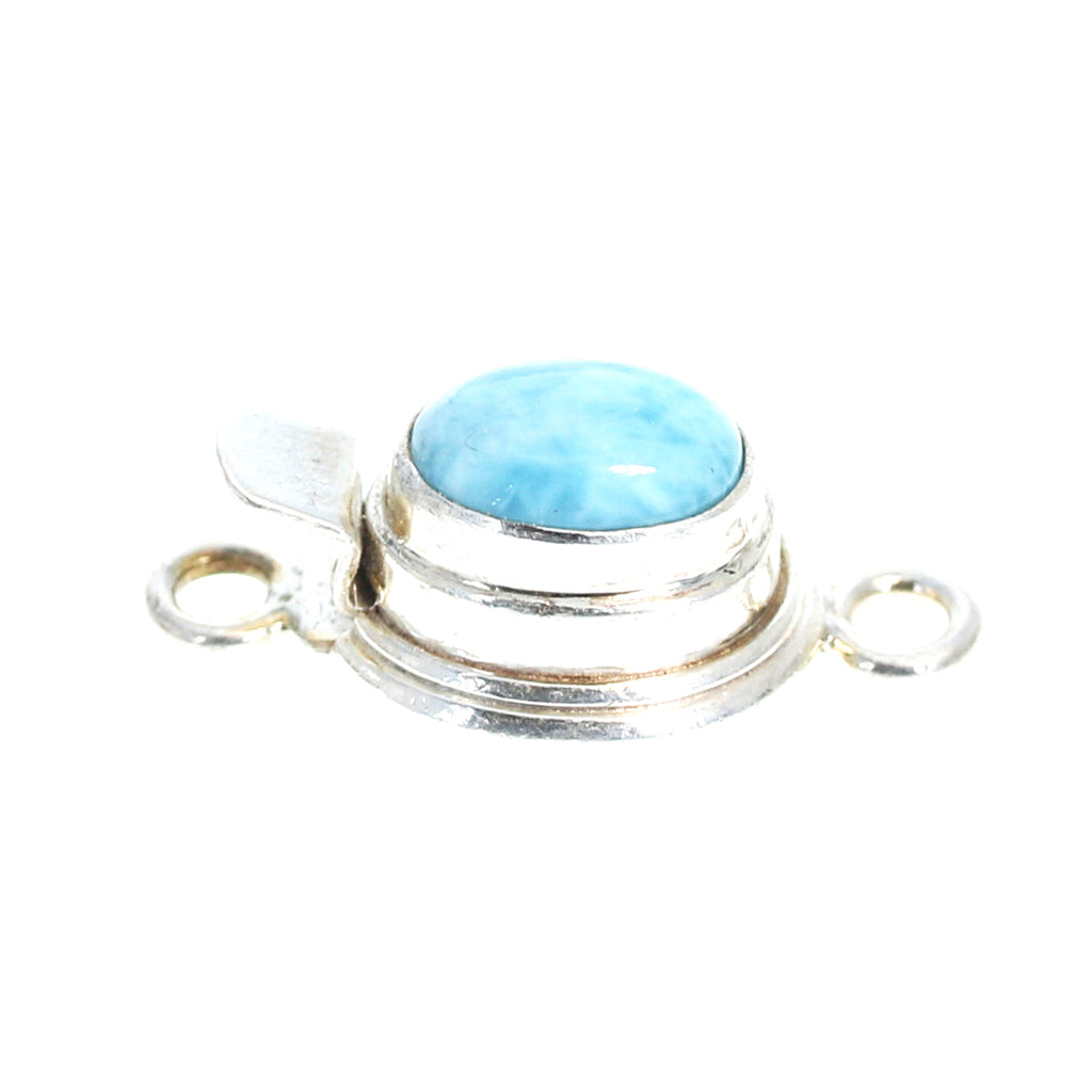 LARIMAR CLASP Oval 8x10mm Sterling Silver