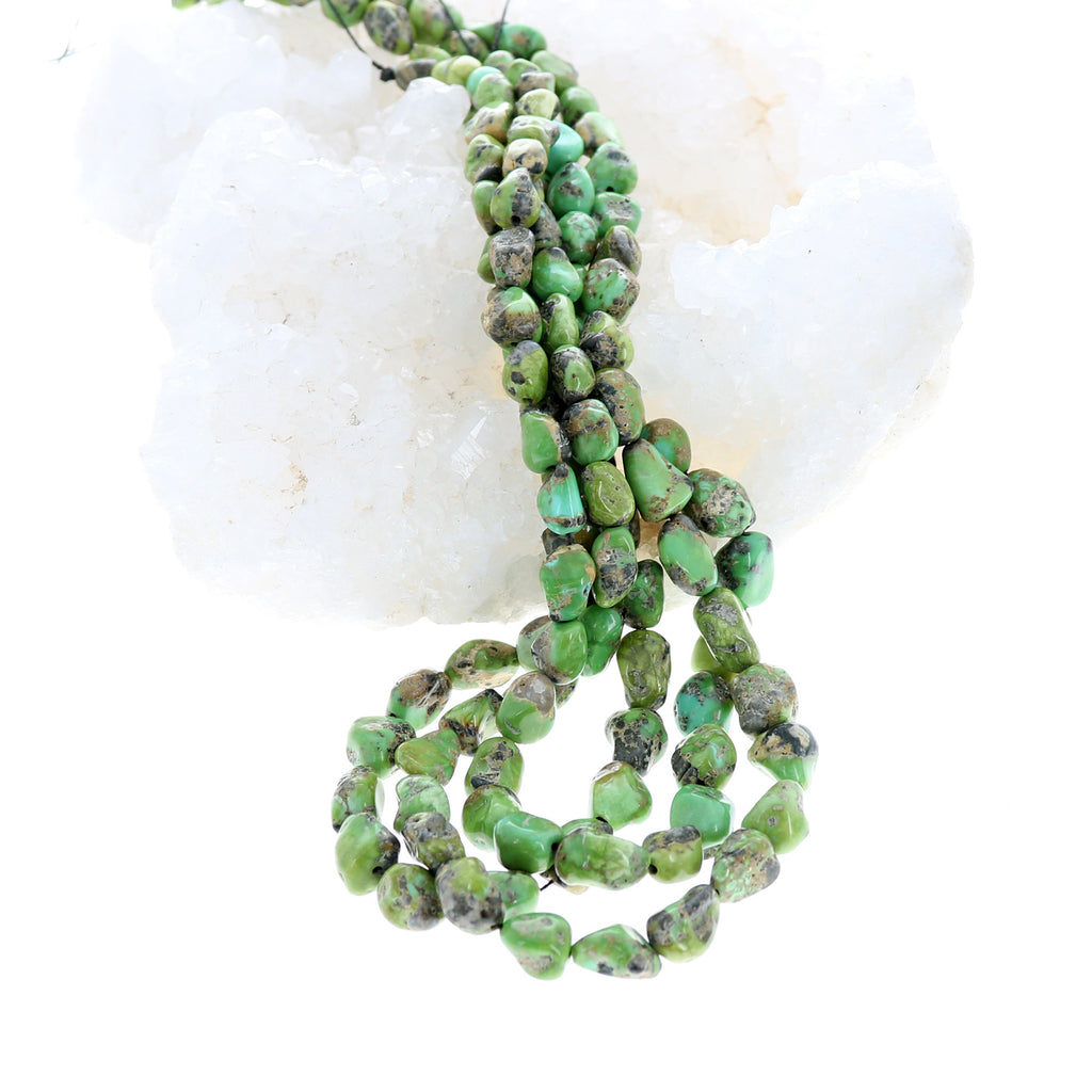 Sonoran Gold Turquoise Beads Lime Green 8-10mm 16""