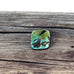 CARICO LAKE TURQUOISE Cabochon 13x12.5mm Green Blue Square - New World Gems - 1