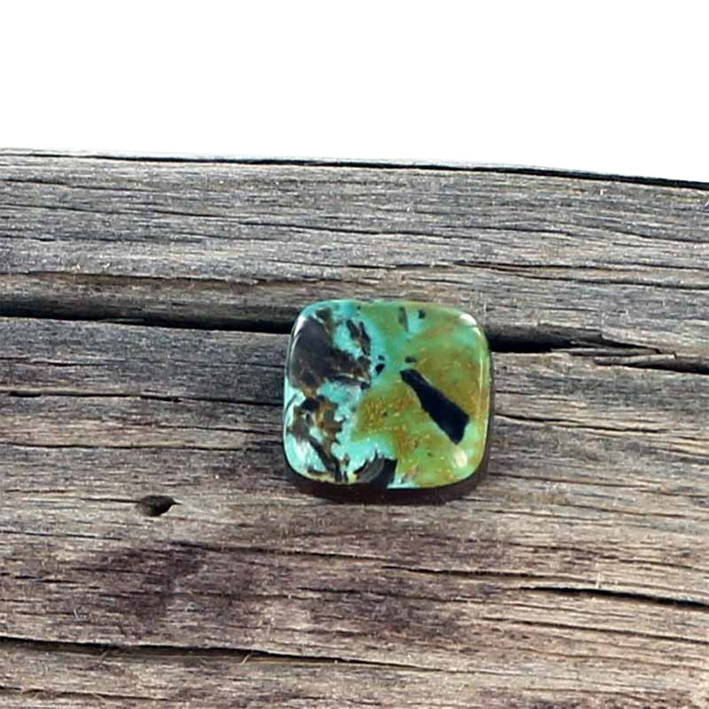 CARICO LAKE TURQUOISE Cabochon 13x12.5mm Green Blue Square - New World Gems - 2
