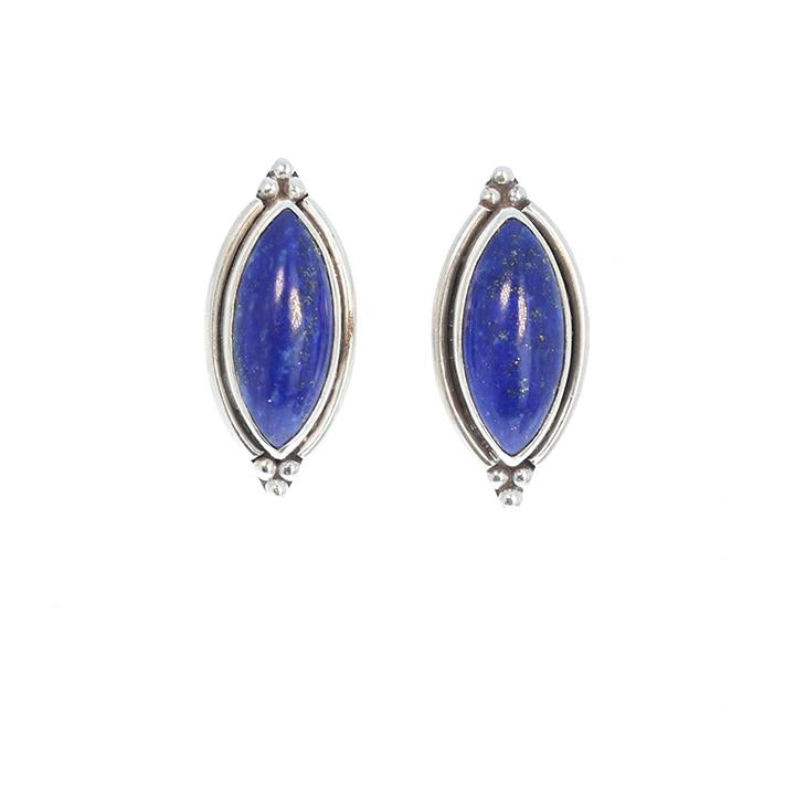 LAPIS Earrings Marquis Shaped 18x9mm Post Style Studs