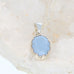 Blue OWYHEE OPAL {Oregon} Oval Shape Sterling Necklace 18""