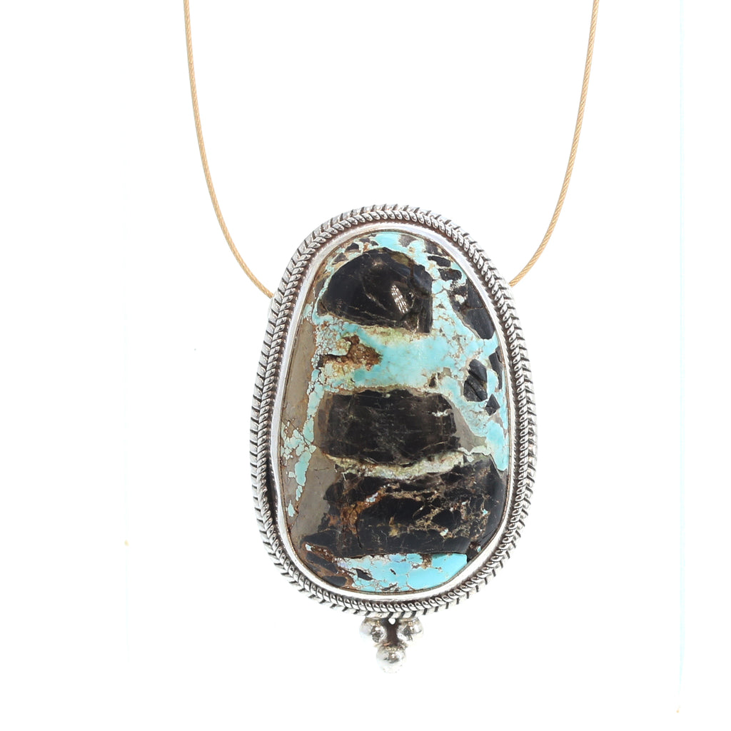 CERRILLOS New Mexico TURQUOISE Pendant Necklace
