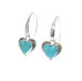 KINGMAN TURQUOISE Hearts Earrings Bright Sky Blue