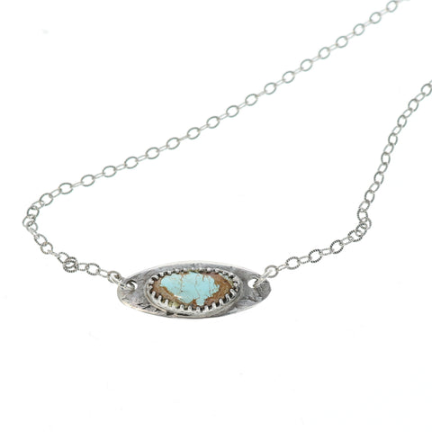 HACHITA TURQUOISE Protective Eye Pendant Necklace Sterling Silver