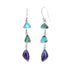 Carico LakeTurquoise and Sugilite Earrings Sterling 3 Stone