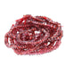 GARNET BEADS FACETED Irregular Rondelles 4mm