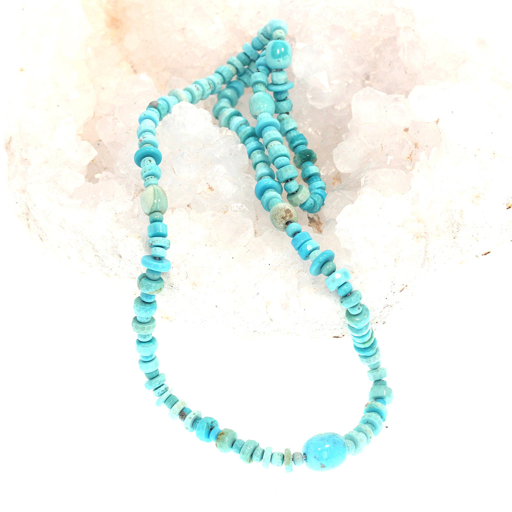 Old Stock SLEEPING BEAUTY TURQUOISE Beads Faceted Mixed Shape