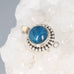 Apatite Clasp Sterling Round 12mm CatsEye Dot Design