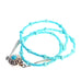 Sleeping Beauty Turquoise Necklace Button Shape Sterling 17.5""
