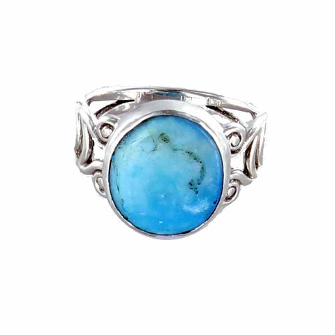 RING PERUVIAN OPAL Sterling Sze 6-7 - New World Gems - 1