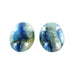 BLUE QUARTZ Cabochon Pair 20x15mm #2