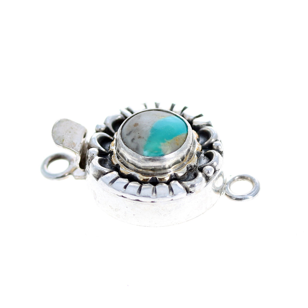 ROYSTON RIBBON TURQUOISE Clasp Moon Design Sterling