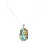 Hubei TURQUOISE PENDANT Light Aqua Caramel Colors