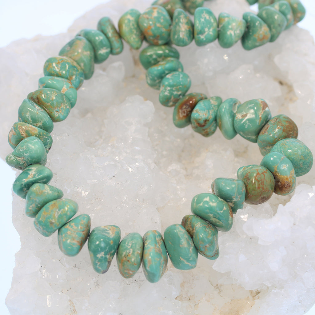 Hunter Green Mexican Turquoise Beads Mexican 16-17mm Nuggets