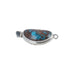 PERUVIAN BLUE Opal Clasp Oval Free Form Etched Sterling