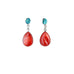 SPINY OYSTER TEARDROP EARRINGS with FOX TURQUOISE