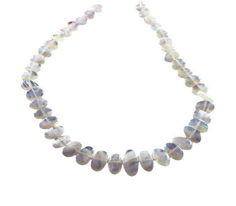 "RAINBOW MOONSTONE Beads Side Drilled 16"" - New World Gems - 1"