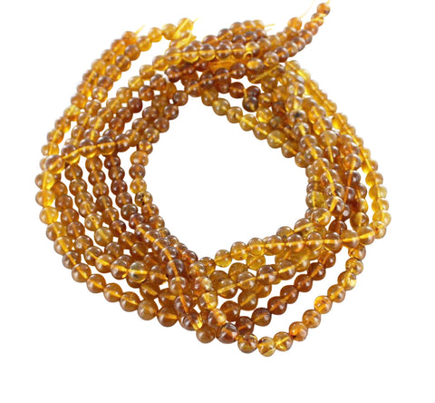 "BALTIC AMBER BEADS Round Large 7.8mm 16"" - New World Gems"
