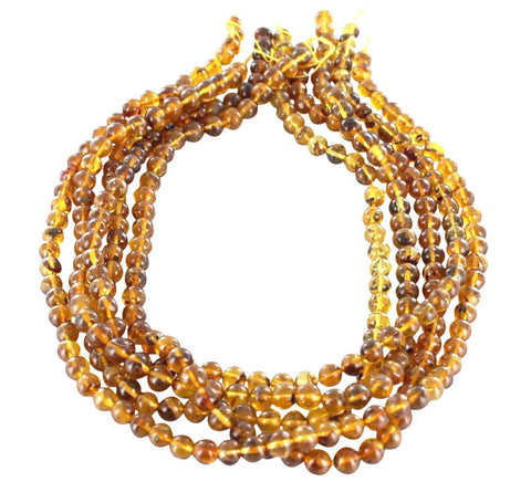 "BALTIC AMBER BEADS Round 6.8mm 16"" - New World Gems"