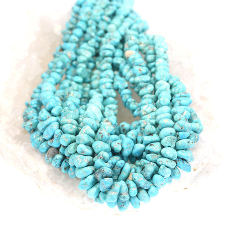 SEARCHLIGHT TURQUOISE BEADS Nevada Nuggets Sky Blue Pyrite