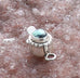 NEW LANDER TURQUOISE Clasp Sterling Southwest 8x6mm