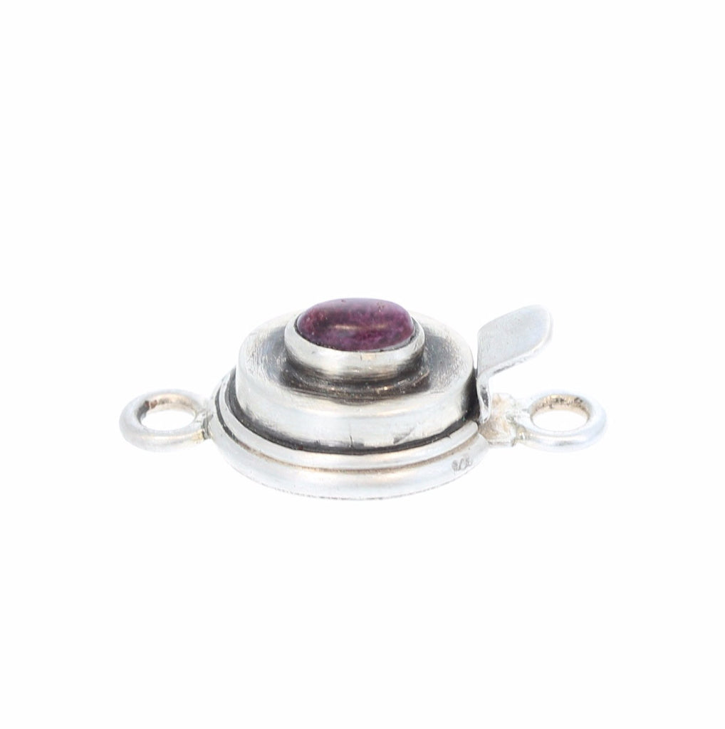 PURPLE SPINY OYSTER Clasp Sterling 4x6mm Oval