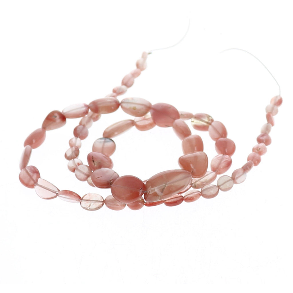 ANDESINE BEADS Oval Shape Light Rose Gold Color 5-14mm 18""