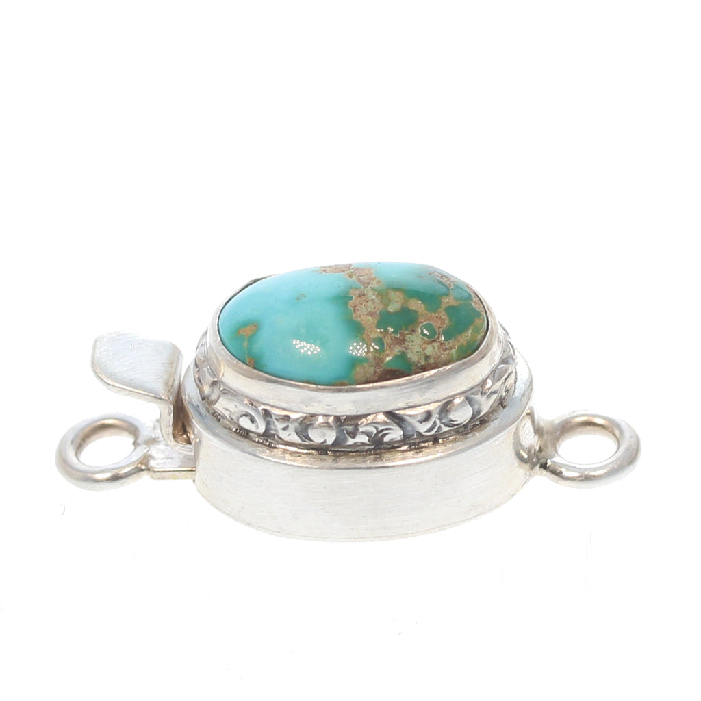 ROYSTON TURQUOISE STERLING CLASP 16x14mm Sky Forest