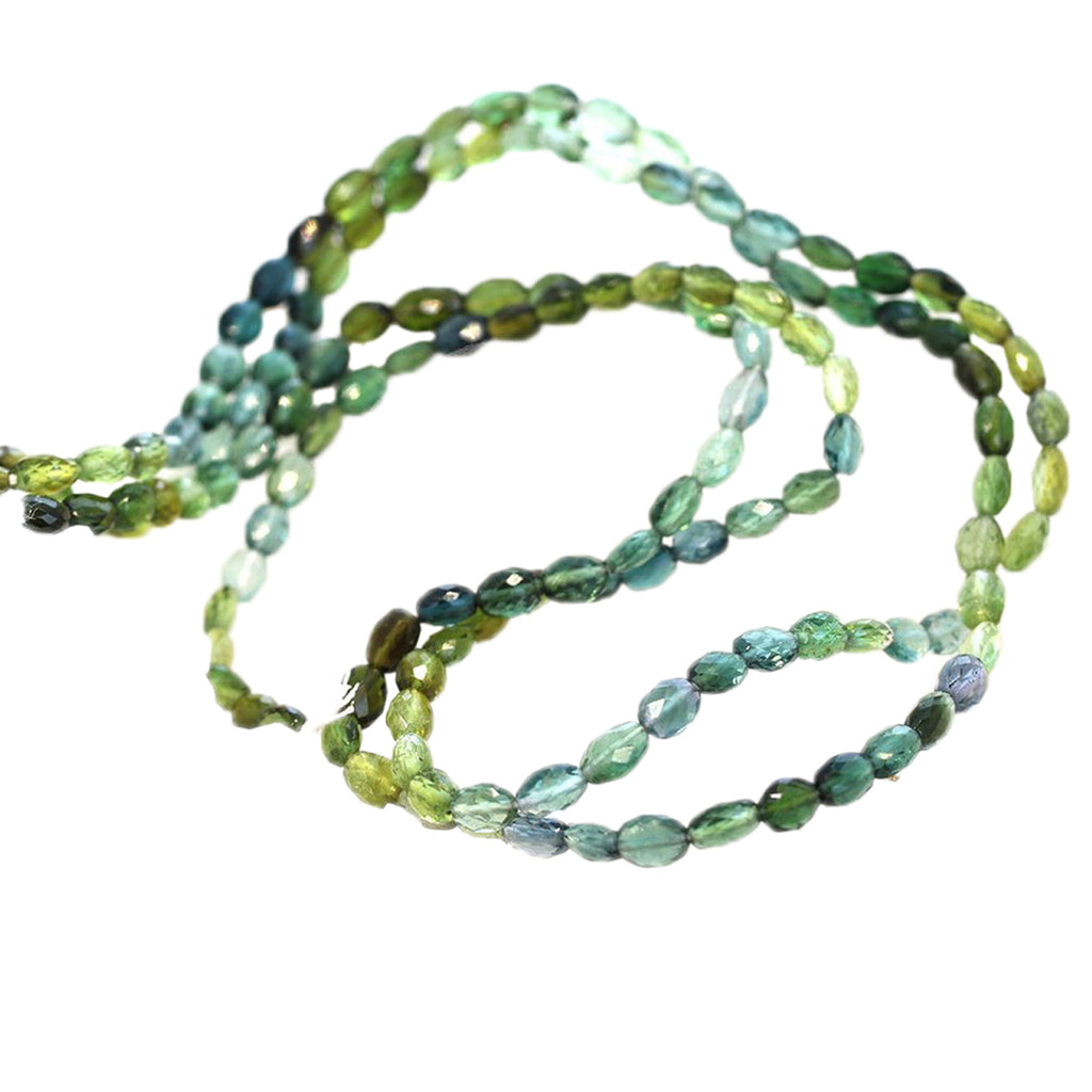 AAA Tourmaline Beads Blues and Greens Faceted Ovals #2