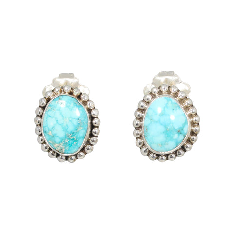 WHITE WATER {Mexican} TURQUOISE Earrings Post Style #2