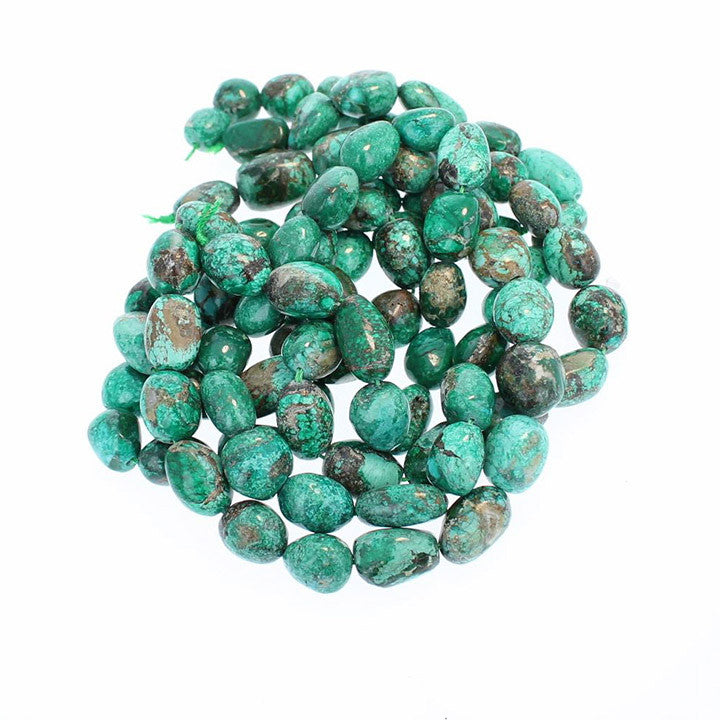 CHRYSOCOLLA BEADS FREE FORM Green