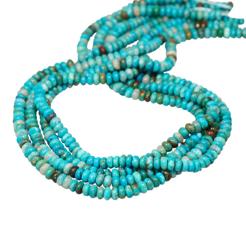 CHRYSOCOLLA Gem Silica Beads Rondelles 6.5mm Blues