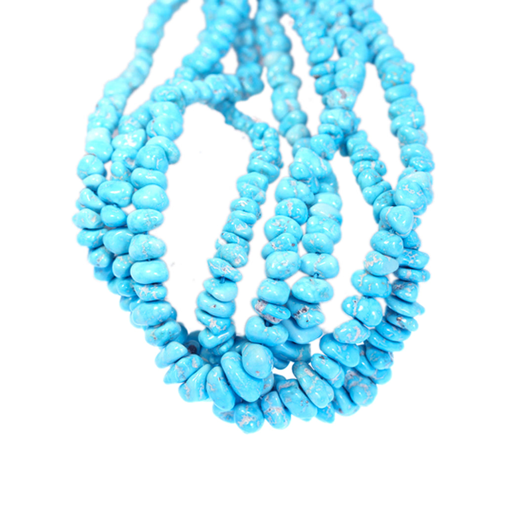 SLEEPING BEAUTY TURQUOISE Beads Oval Nuggets 12-18x13mm