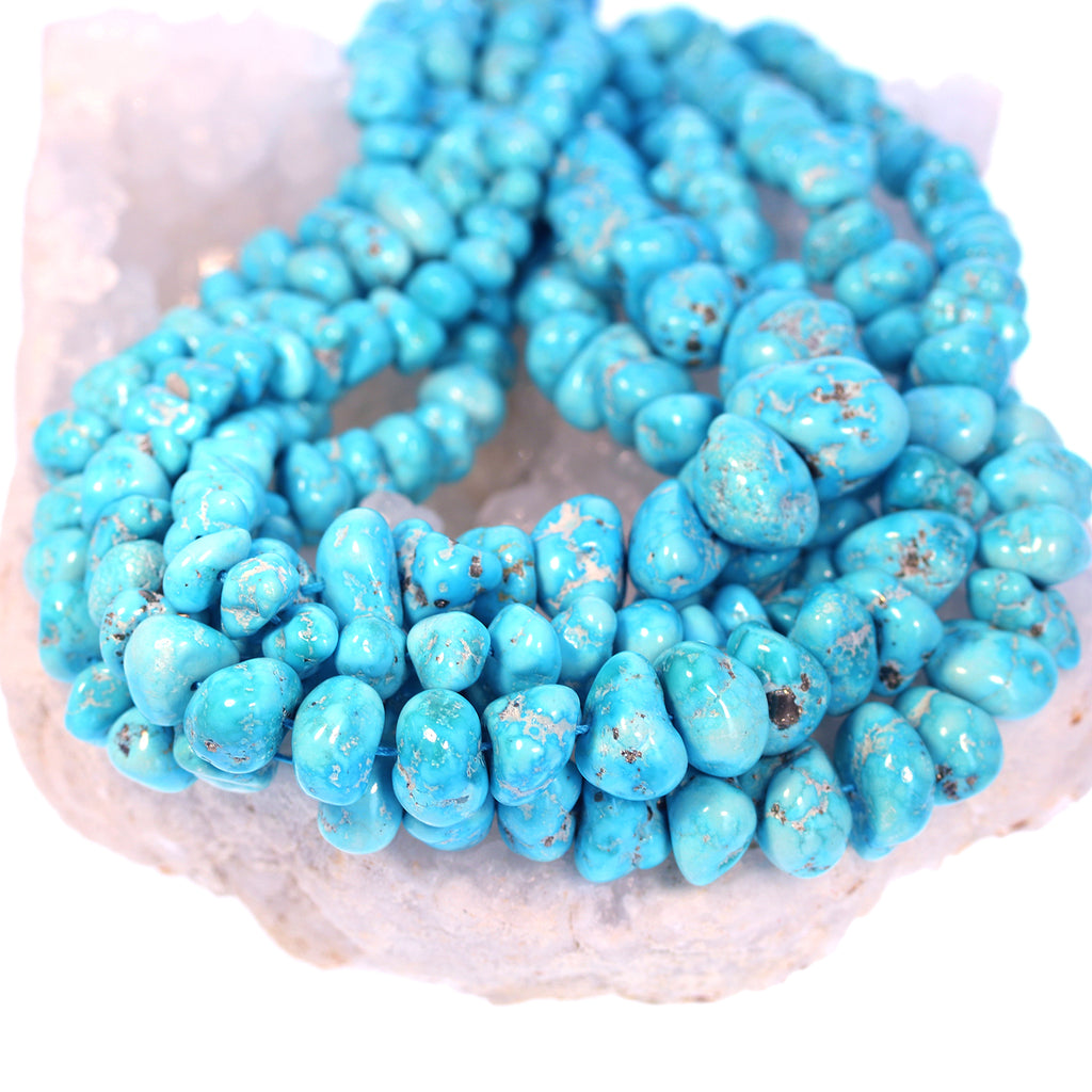 SLEEPING BEAUTY TURQUOISE Beads Large Nuggets 7-24mm