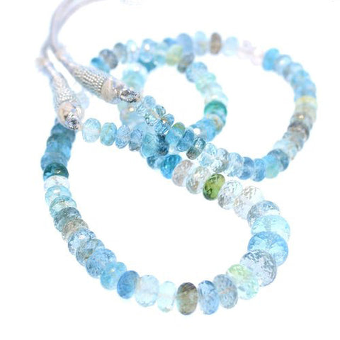 AAA AQUAMARINE BEADS FACETED Rondelles Multi Color Heliodor