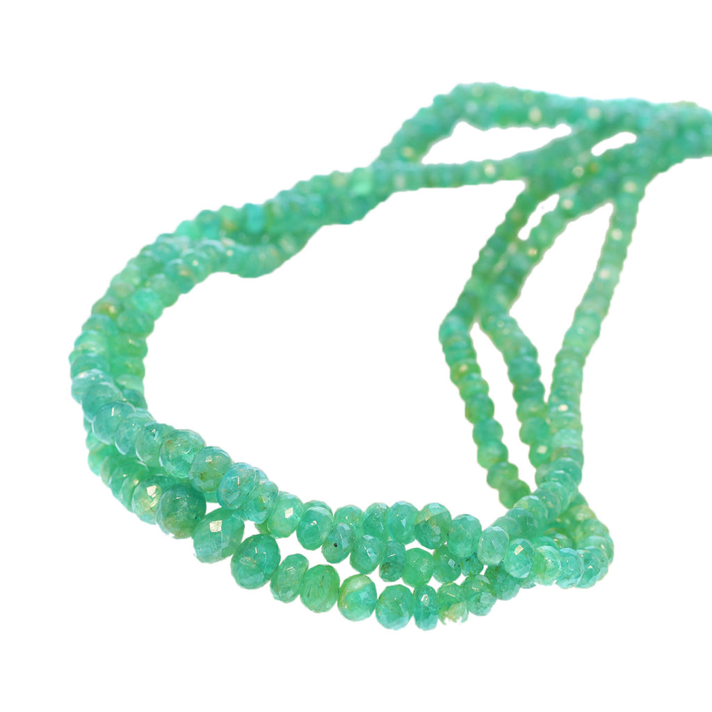 GENUINE EMERALD BEADS Faceted Rondelles 4.5-8mm