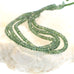 APATITE BEADS FACETED RONDELLE GREEN 4.5mm